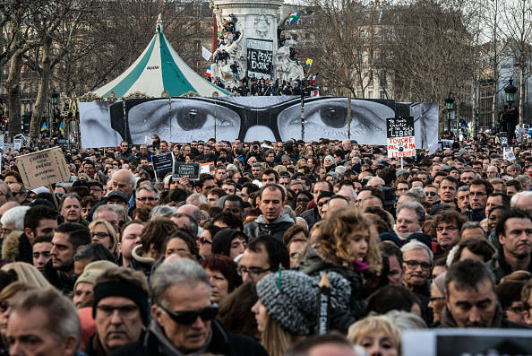 Boulevard Voltaire「Mass Unity Rally Held In Paris Following Recent Terrorist Attacks」:写真・画像(12)[壁紙.com]