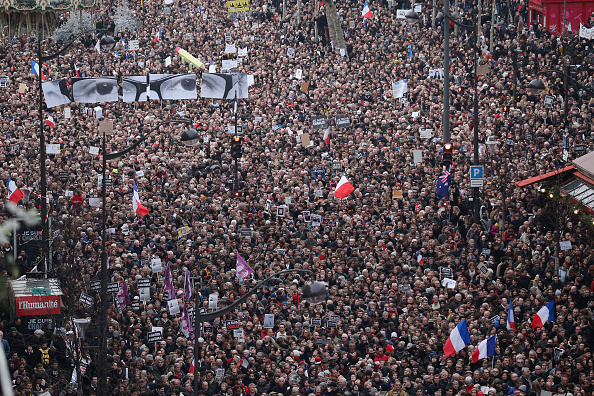 Boulevard Voltaire「Mass Unity Rally Held In Paris Following Recent Terrorist Attacks」:写真・画像(1)[壁紙.com]