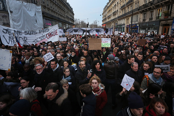 Boulevard Voltaire「Mass Unity Rally Held In Paris Following Recent Terrorist Attacks」:写真・画像(18)[壁紙.com]