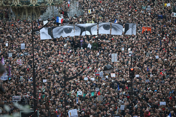 Boulevard Voltaire「Mass Unity Rally Held In Paris Following Recent Terrorist Attacks」:写真・画像(9)[壁紙.com]
