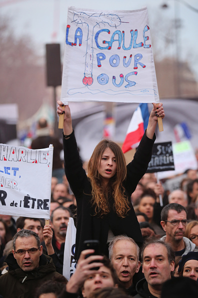 Boulevard Voltaire「Mass Unity Rally Held In Paris Following Recent Terrorist Attacks」:写真・画像(16)[壁紙.com]
