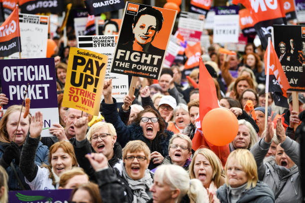 Glasgow Council Workers Strike for Equal Pay:ニュース(壁紙.com)
