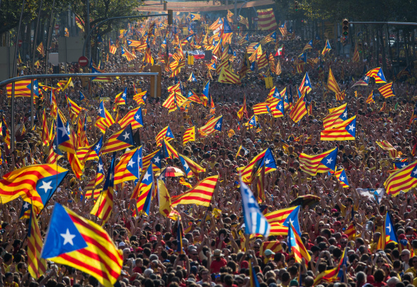Catalonia「Catalan Independence Rally In Barcelona」:写真・画像(0)[壁紙.com]