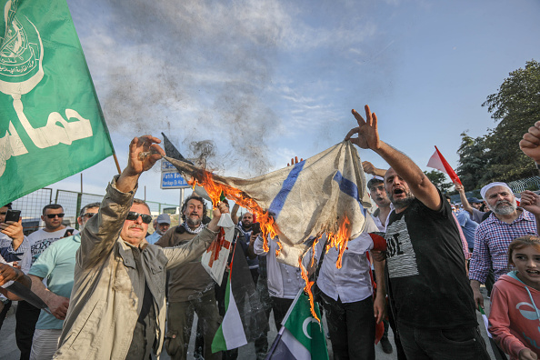 Gaza Strip「Major Rally Held In Istanbul To Protest Killing Of Palestinians In Gaza」:写真・画像(13)[壁紙.com]