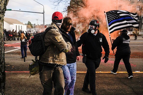 Washington State「Trump Supporters Rally In Washington Capital As Counter-Protesters Show Their Opposition」:写真・画像(18)[壁紙.com]