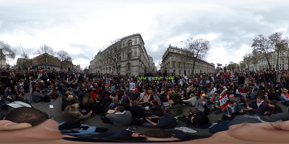Politics and Government「Tax Loophole Protest Held Outside Downing Street After Panama Revelations」:写真・画像(8)[壁紙.com]