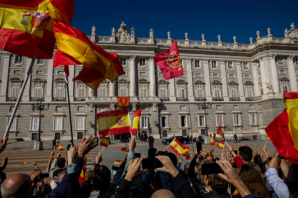 Madrid Royal Palace「Civil Protest Against The State Of Alarm On Spain's National Day」:写真・画像(19)[壁紙.com]