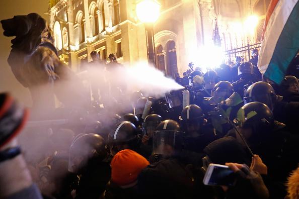 Laszlo Balogh「Demonstrators Protest Legislative Moves By Orban Government」:写真・画像(19)[壁紙.com]