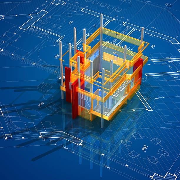 Architecture On Blueprint:スマホ壁紙(壁紙.com)