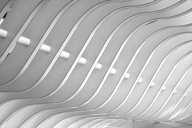Architectural abstract 3 - Interior of a modern building:スマホ壁紙(壁紙.com)