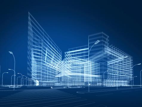 Horizon「3D architecture abstract」:スマホ壁紙(10)