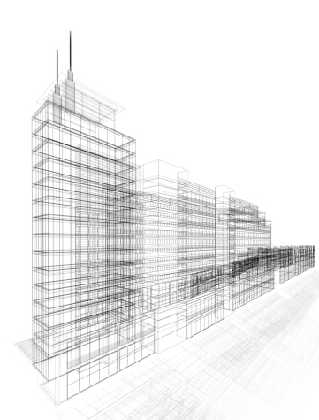 Housing Project「3D architecture abstract」:スマホ壁紙(14)