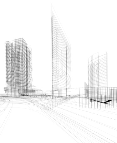 Housing Project「3D architecture abstract」:スマホ壁紙(13)