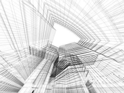 Housing Project「3D architecture abstract」:スマホ壁紙(2)