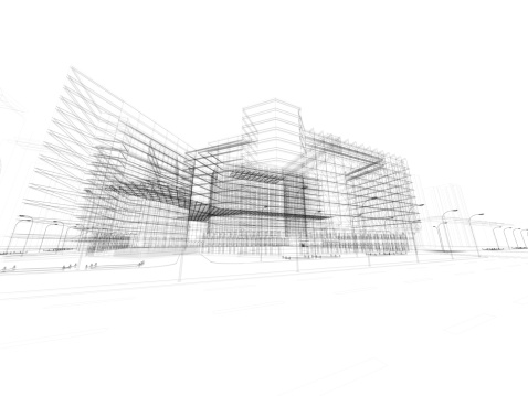 Sketch「3D architecture abstract」:スマホ壁紙(19)