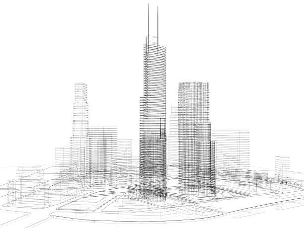 3D architecture abstract:スマホ壁紙(壁紙.com)