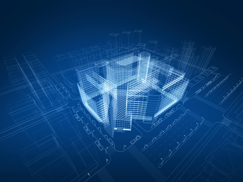 Skyscraper「3D architecture abstract」:スマホ壁紙(11)
