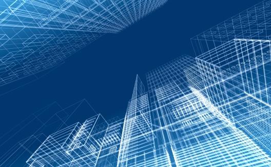 Diagram「Architectural drawing - wireframe render」:スマホ壁紙(18)