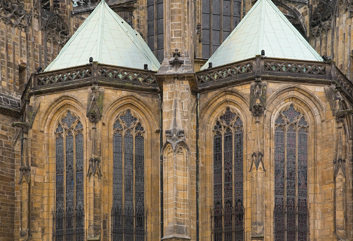 St Vitus's Cathedral「Architectural details on church exterior」:スマホ壁紙(6)