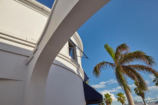 ヤシ「Architecture in Regent Village, one of Providenciales' main shopping areas, Turks and Caicos..」:スマホ壁紙(16)