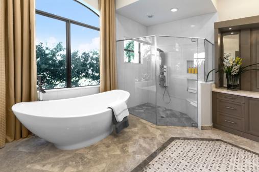 スイセン「建築:美しいバスルーム」:スマホ壁紙(17)