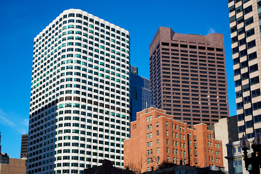 Postmodern「Architectural detail of skyscrapers in downtown Boston」:スマホ壁紙(0)