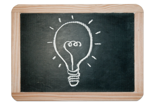 Cartoon「Idea light bulb」:スマホ壁紙(1)
