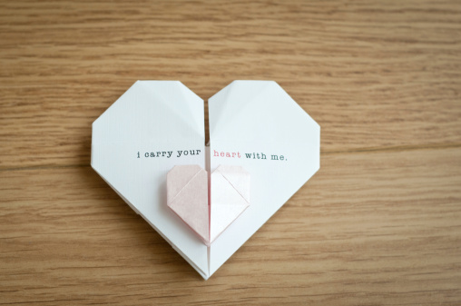 Paper Craft「Origami Hearts」:スマホ壁紙(10)