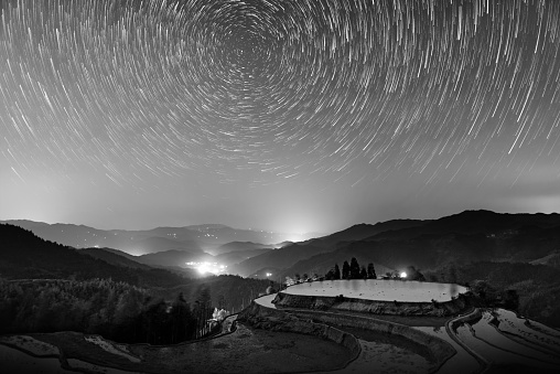 Multiple Exposure「Star trail above rice terraces,South East China」:スマホ壁紙(8)