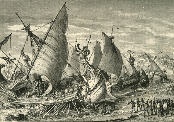 Sicily「The Naval Battle In The Harbour Of Syracuse」:写真・画像(4)[壁紙.com]
