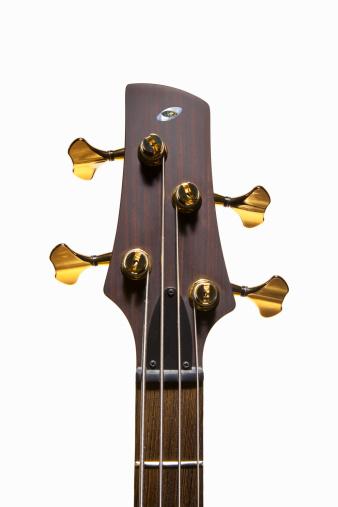 Tuning Peg「Wenge Headstock, Gold Hardware of an Electric Bass」:スマホ壁紙(16)