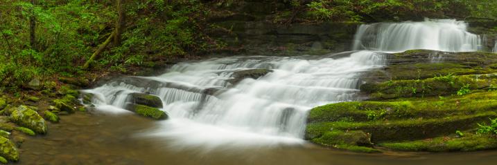 Great Smoky Mountains National Park「Waterfall Panorama」:スマホ壁紙(15)