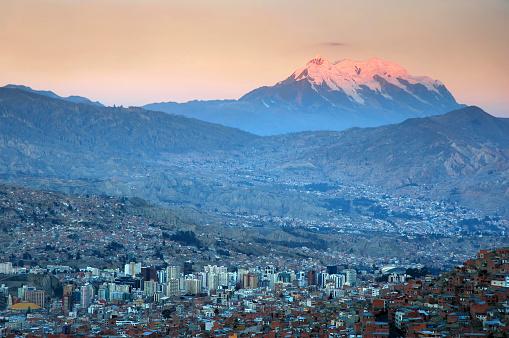 Bolivian Andes「La Paz at sunset」:スマホ壁紙(4)