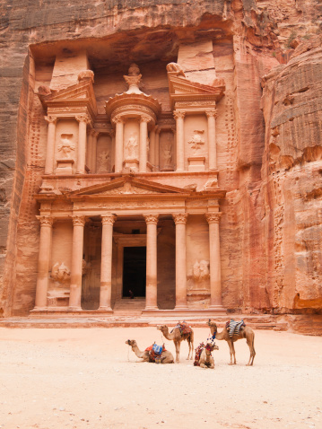 Monastery「Treasury building, Petra, Jordan」:スマホ壁紙(13)