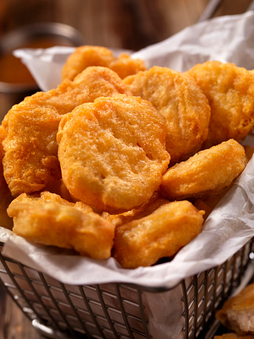 Scalloped - Pattern「Basket of Chicken Nuggets with Sweet and Sour Sauce」:スマホ壁紙(16)
