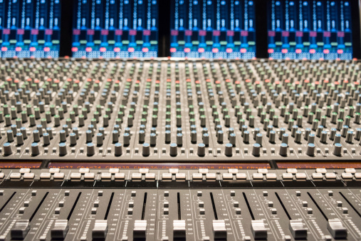 Rock Music「Recording studio with mixing console.」:スマホ壁紙(7)