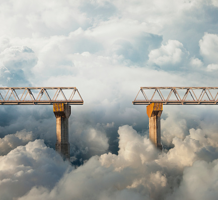 Digital Composite「Clouds surrounding gap in bridge」:スマホ壁紙(0)
