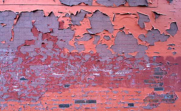 Brick Wall「Detail of paint peeling of a brick wall」:写真・画像(1)[壁紙.com]