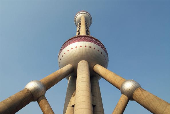 Postmodern「Detail of Pearl Oriental Tower in Lujiazui district of Pudong in Shanghai, China」:写真・画像(14)[壁紙.com]