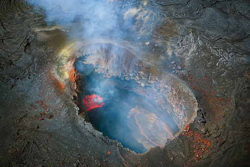 Volcanic Crater「Volcano letting off steam, Kilauea, Hawaii, United States」:スマホ壁紙(16)