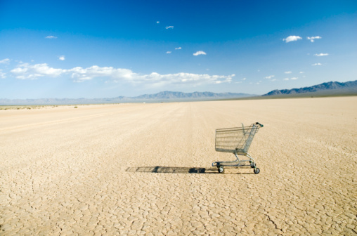 Lake Bed「Empty shopping cart in desert」:スマホ壁紙(14)