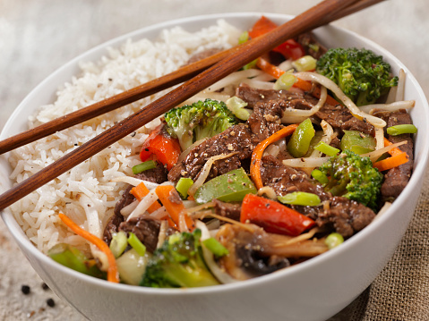 Bean Sprout「Asian Style Peppered Beef and Vegetable Rice Bowl with Oyster Sauce」:スマホ壁紙(18)