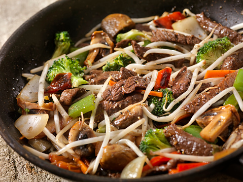 Cast Iron「Asian Style Peppered Beef and Vegetables with Oyster Sauce」:スマホ壁紙(4)