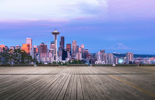 Seattle「empty wooden viewing platform,Seattle」:スマホ壁紙(12)