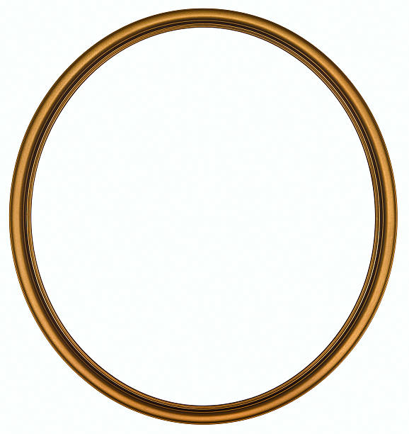 Antique Gold Round Picture Frame. Isolated with Clipping Path:スマホ壁紙(壁紙.com)