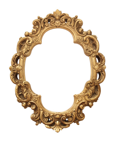 Carving - Craft Product「Antique gold frame」:スマホ壁紙(0)