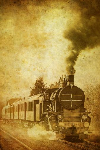 Sepia Toned「old steam train - vintage photo」:スマホ壁紙(16)
