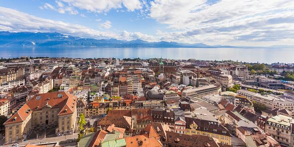 Vaud Canton「Switzerland, Lausanne, cityscape」:スマホ壁紙(6)