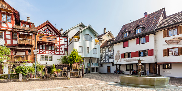 Town Square「Switzerland, Thurgau, Arbon, Old town, Fish market square, historical houses」:スマホ壁紙(3)
