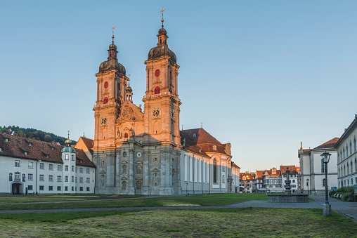 St Gallen Canton「Switzerland, St Gallen, view to collegiate church」:スマホ壁紙(17)